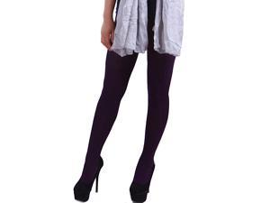 Women Fashion Colors Warm Knit Cotton Footed Winter Leggings Tights Stockings (Purple)