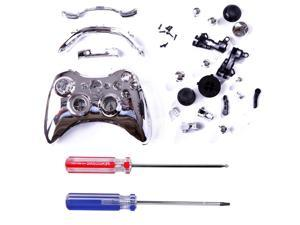 Custom Replacement Wireless Game Controller Shell Case Cover Kit for Xbox 360 (Silver)