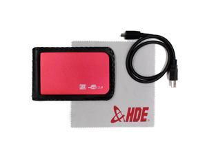 "2.5"" Red SATA External Hard Disk Drive (HDD) 500 GB Metallic Enclosure + Cloth"