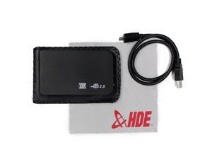 "2.5"" Black SATA External Hard Disk Drive (HDD) 500 GB Metallic Enclosure + Cloth"