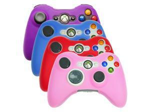 HDE Xbox 360 Controller Silicone Skin Case Cover 4 Pack Combo (Purple, Aqua Blue, Red, Pink)