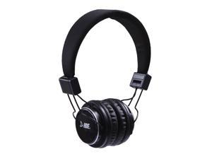 On Ear Bluetooth Studio Headphones Wireless Music Rechargeable With Hands Free Microphone - Black
