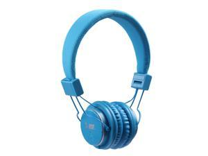 On Ear Bluetooth Studio Headphones Wireless Music Rechargeable With Hands Free Microphone - Blue