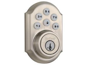 Kwikset SmartCode 910 Zigbee Traditional Style Deadbolt with Home Connect, Satin Nickel (99100-044)