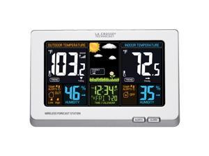 La Crosse Wireless Color Weather Station, White (308-1414W)