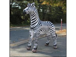 Lifelike Zebra Display OVER 7 FEET TALL Party Rock Zebra Inflatable Decor  - OEM