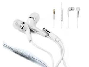 New OEM Samsung EHS64 White 3.mm Earphones Earbuds Headphones Headset with Remote and Mic (With Extra Eargels) For Samsung GALAXY ATTAIN 4G, Captivate Glide, DoubleTime, Repp, Focus Flash, Transfix