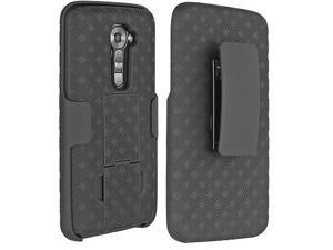 New Original OEM Verizon LG G2 VS980 Hard Shell Snap On Case with Belt Clip and Holster Combo ( Bulk Packaging, No Retail Package )