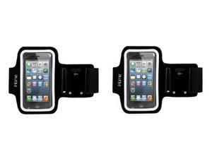 Lot 2 New In Box Original OEM iHome IH-5P141B Sport Armband for iPhone 4/4S/5/5S/5C and iPod touch 3G/4G -Black