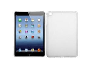 White Solid Gummy TPU Skin Cover Protector Case for Apple iPad Mini