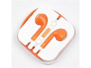Earbuds EarPods with remote and mic Earphone Headphone for Apple iPhone 5 5G 5th - Orange