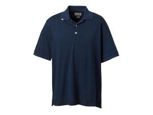 Ashworth Men's EZ-Tech Jersey Textured Stripe Polo Sport Shirt 2013