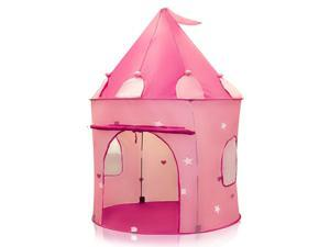Play Tent Childs Pink Princess Castle Kid Play House Girl Fairy House