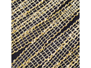 """Mesh Ribbon 3/4"""" 25 yards Wedding Baby shower Craft Sewing - Color: Yellow"""