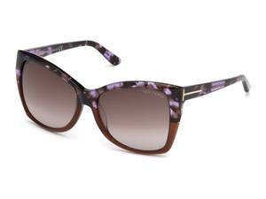 TOM FORD Sunglasses TF 0295 55Z Havana 57MM