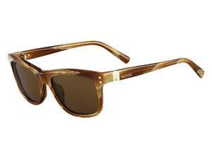 VALENTINO Sunglasses V653S 259 Striped Cognac  54MM