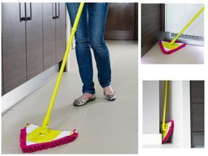 Doktor Power Microfiber Tri-Mop w/ Bonus Cleaning Mitt