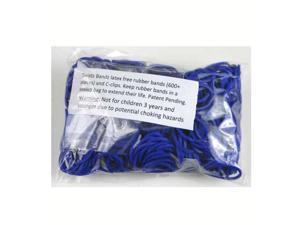 Rainbow Loom 600 Pc Rubber Band Refill w/ 25 C-clips (Navy Blue)