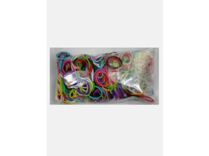 Rainbow Loom 600 Pc Rubber Band Refill w/ 25 C-clips (Mixed Colors)