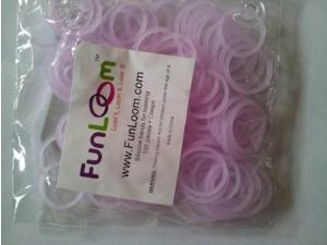 FunLoom 100 Pc Rubber Bands Refills with Super C-clips (Glow in the Dark)
