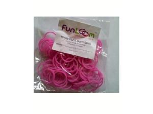 FunLoom 100 Pc Rubber Bands Refills with Super C-clips (Sparkle Pink)