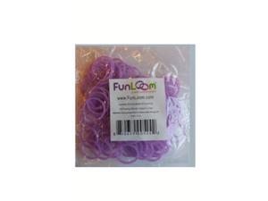 FunLoom 100 Pc Rubber Bands Refills with Super C-clips (Sparkle Lavender)