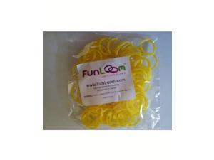 FunLoom 100 Pc Rubber Bands Refills with Super C-clips (Yellow)