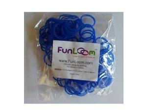 FunLoom 100 Pc Rubber Bands Refills with Super C-clips (Blue)