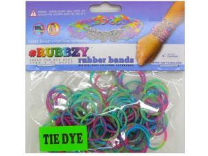 Rubbzy 100 pc Special Edition Tie Dye/Glitter Rubber Bands (#265)