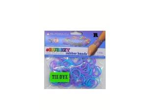 Rubbzy 100 pc Tie Dye Rubber Bands w/ 4 Connectors (#104)