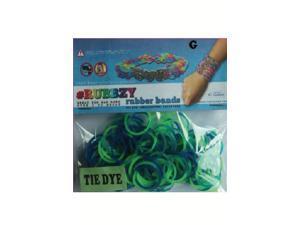 Rubbzy 100 pc Tie Dye Rubber Bands w/ 4 Connectors (#302)