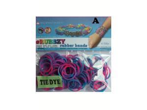 Rubbzy 100 pc Tie Dye Rubber Bands w/ 4 Connectors (#135)