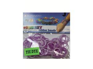 Rubbzy 100 pc Tie Dye Rubber Bands w/ 4 Connectors(#159)