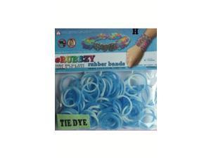 Rubbzy 100 pc Tie Dye Rubber Bands w/ 4 Connectors (#173)