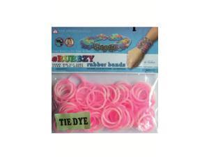 Rubbzy 100 pc Tie Dye Rubber Bands w/ 4 Connectors (#197)