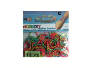Rubbzy 100 pc Tie Dye Rubber Bands w/ 4 Connectors (#241)