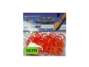 Rubbzy 100 pc Tie Dye Rubber Bands w/ 4 Connectors (#296)