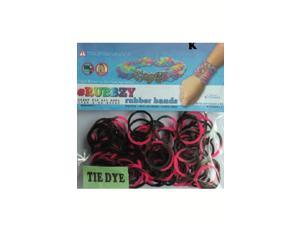 Rubbzy 100 pc Tie Dye Rubber Bands w/ 4 Connectors (#814)
