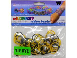 Rubbzy 100 pc Tie Dye Rubber Bands w/ 4 Connectors (#753)
