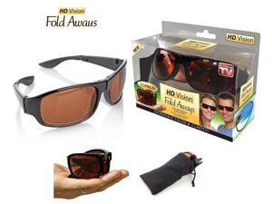 HD Vision Fold Aways High Definition Sunglasses- Black