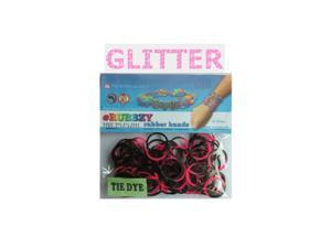 Rubbzy 100 pc Special Edition Tie Dye/Glitter Rubber Bands (#814)