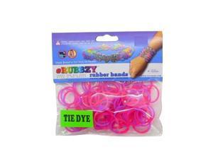 Rubbzy 100 pc Tie Dye Rubber Bands w/ 4 Connectors (#890)