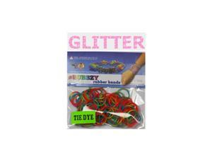 Rubbzy 100 pc Special Edition Tie Dye/Glitter Rubber Bands (#241)