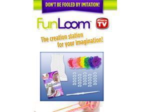 FunLoom Rubber Band Bracelet Maker w/ 300 Rubber Bands and Super C Clips