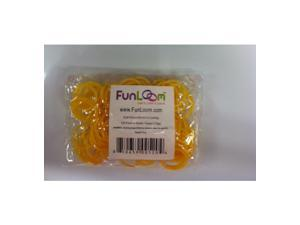 FunLoom 100 Pc Rubber Bands Refills with Super C-clips (Gold)