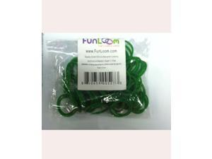 FunLoom 100 Pc Rubber Bands Refills with Super C-clips (Sparkle Green)