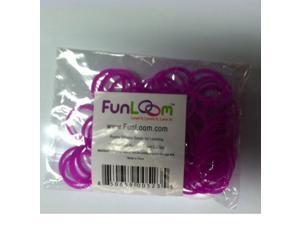 FunLoom 100 Pc Rubber Bands Refills with Super C-clips (Purple/Magenta)