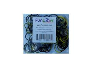 Funloom 100 Pc Tie Dye Bands with Super C-clips (Yellow/Black)