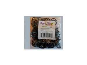 Funloom 100 Pc Tie Dye Bands with Super C-clips- Light Blue/Black
