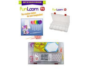 FunLoom Deluxe Double Bracelet Maker Kit w/ 600 Bands and Storage Case